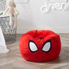 Marvel Bedroom, Avengers Bedroom, Spiderman Bedrooms, Spiderman Kids, Marvel Kids, Marvel Man, Red Bean Bag, Toddler Bean Bag Chair, Superhero Room