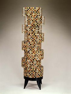 John Eric Byers (b. Jan. 12, 1959): Hat Box Chest, 1999 - constructed, carved, painted, and waxed mahogany with milk paint (Smithsonian)