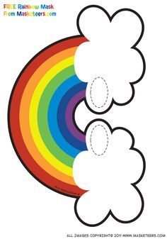Resultado de imagen de garland rainbow printable
