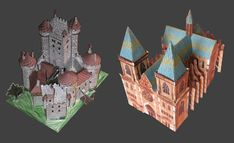 Fictional Castle and Cathedral Paper Models