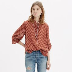 Madewell+-+Shirred+Popover+Shirt+in+Shadowtree