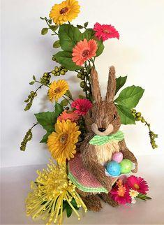 Easter Bunny Floral Arrangement, Easter/Spring Centerpiece, Easter Decor, Spring Decor, Holiday Centerpiece, Holiday Arrangement, Gift Ideas