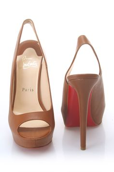 Christian Louboutin // Slingbacks In Nut