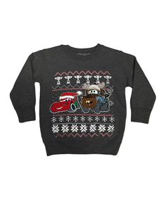 Another great find on #zulily! Charcoal Cars Crewneck Sweatshirt - Toddler #zulilyfinds