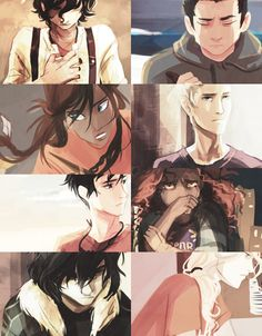 Leo Valdez, Frank Zhang, Piper McLean, Jason Grace, Percy Jackson, Hazel Levesque, Nico di Angelo, Annabeth Chase