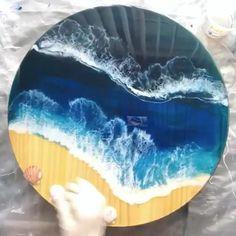 Resin Wall Art, Diy Resin Art, Resin Artwork, Diy Resin Crafts, Wood Resin Table, Epoxy Resin Wood, Resin Furniture, Acrylic Pouring Art, Diy Canvas Art