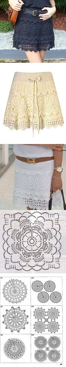 Красивая юбка крючком | Рукоделие и вышивка Crochet Skirt Outfit, Crochet Skirts, Crochet Clothes, Gilet Crochet, Crochet Blouse, Crochet Stitches, Crochet Woman, Diy Crochet, Crochet Designs