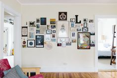 The 3D gallery wall and its layout is Laleh's favorite DIY feature in their apartment.
