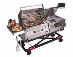 Ultimate fold up tailgate grill