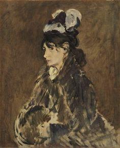 """Berthe Morisot with a Muff"", by Édouard Manet"