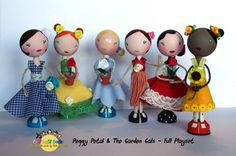 The Garden Gang - The Complete Peggy Petal And The Garden Gals Playset - Fabi…