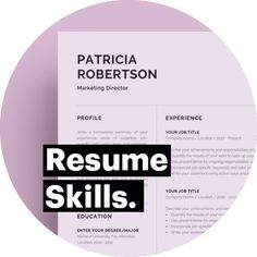 Resume Skills Section #ResumeSkills Resume Skills Section, How To Make Resume, Marketing, Resume Templates