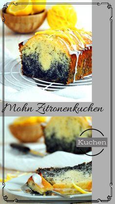Ein fruchtiger leichter Zitronenkuchen mit Mohnfülle Food Blogs, Ethnic Recipes, Pies, Easy Lemon Drizzle Cake, Light Cakes, Poppy Seed Cake, Bread, Food Food, Baking