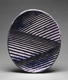 Jun Kaneko. Untitled, Ovals, 1986Hand-built glazed ceramic | h x w x d in. | Photo credit Dirk Bakker