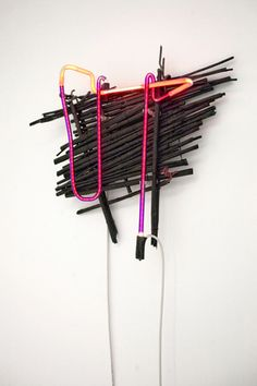 Andreas Melas & Helena Papadopoulos neon light tube art