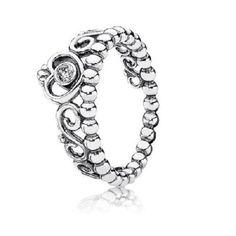71b875627 Pandora authentic silver 925 190880cz-56 My Princess ring sz 7.5 NWOT # Pandora #