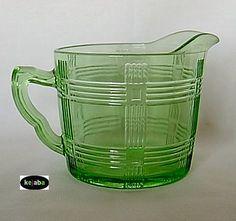 Crisscross pattern 1930s  Depression Glass