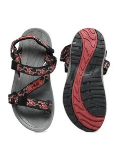c5ab2cfc993bc FILA Men PAVO Black and Red Sports Sandals