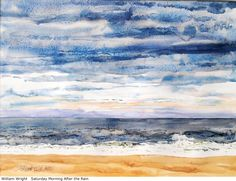 William Wright, Big juicy paint lets the watercolor do the work. Darker vibrant color in the sky comes forward create a sense of space. Masterful skills