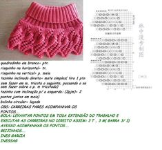 FIOS DE ARTE: GOLA COM PONTO FOLHA COM TRADUÇÃO Vogue Knitting, Knitting Socks, Baby Knitting, Crochet Baby Dress Pattern, Baby Dress Patterns, Crochet Dolls, Crochet Hats, Baby Girl Sweaters, Knitted Cape