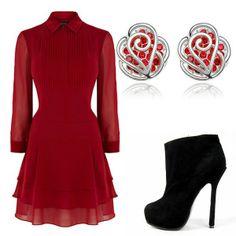 Little red dress outfit www.gloria-agostina.com/de