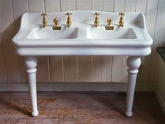 Jacob Delafon Kitchen Sinks : Jacob Delafon, Paris Double Basin with Splasback C.1900, Antique ...