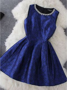 Beaded Dress in Blue