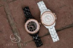 GroopDealz | Rose Gold & Jewel Faced Watches - 2 Colors!