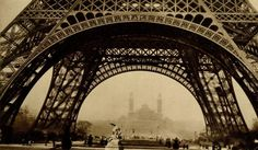 Germaine Krull (Polish, 1897-1985). Les piliers de base de la Tour Eiffel. Original vintage photogravure. c1929.