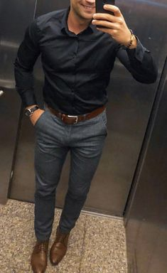 Stylish Mens Outfits, New Outfits, Casual Outfits, Mens Fashion Wear, Suit Fashion, Fashion Outfits, Casual Work Wear, Casual Wear For Men, Formal Men Outfit