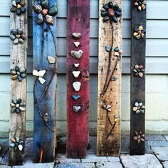 Love how my palette art turned out! Excited, more desi .- Love how my palette art turned out! Excited to do more designs! # Excited # failed # love # making - Driftwood Crafts, Pallet Crafts, Diy Pallet Projects, Art Projects, Wooden Pallet Art Ideas, Pallet Wood, Palette Deco, Palette Art, Stone Crafts