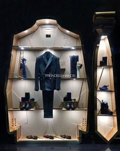 Think about your windows, too! Salvatore Ferragomo uses shape (in addition to merchandising) to create something eye catching. #WindowDisplay #Merchandising #Retail: