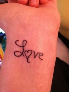 another cute love tattoo