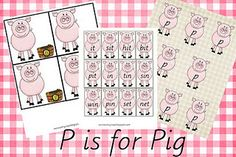 P is for Pig Free Preschool and Kindergarten Printables from Our Country Road