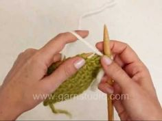 DROPS Knitting Tutorial: How to knit linen stitch.