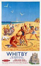 Vintage British Railways Whitby Railway Poster  A3 Print