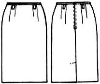 Выкройка узкой юбки до колен/shirt skirt