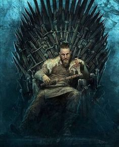 Vikings - Ragnar Lothbrok is the King of the Throne Vikings Show, Vikings Game, Watch Vikings, Viking Life, Viking Warrior, Tatoo Tree, Ragnar Lothbrok Vikings, Lagertha, Ragnar Lothbrok Quotes