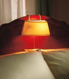 CREAM READING HEADBOARD LAMP BED LIGHT PLEATED SHADE #THEBIGDISCOUNT