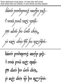 Even darkness must pass Ring Tattoos, I Tattoo, Tatoos, Elvish Tattoo, Tolkien Tattoo, Elven Words, Elvish Language, Lord Of The Rings Tattoo, Daffodil Tattoo