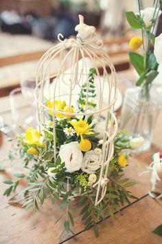 mini birdcage centerpiece
