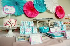 Modern Baby Elephant Baby Shower — Celebrations at Home... Great website with special event themes