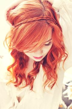 Beautiful Red Hair.I always wanted hair this color.