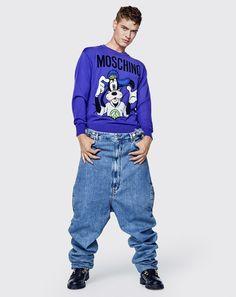 MOSCHINO is FUN! Jeremy Scott, Fast Fashion, Fashion News, Mens Fashion, Moschino, Leather Overalls, H&m Collaboration, Boy Models, Trends