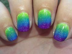 Glossy and Glitter: Peacock Ombre