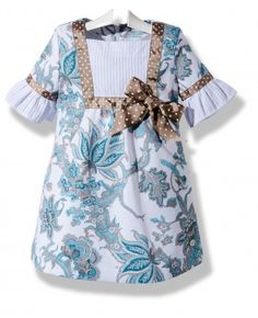 Vestido de verano para niña en pique estampado
