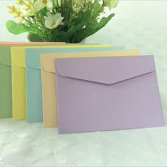 10 pcs/lot  Candy Color Paper Envelope Cute Mini Envelopes Vintage European Style For Card Scrapbooking Gift Free shipping