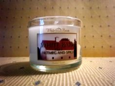 Nutmeg and Spice White Barn candle from Bath and Body works complementary from Beauty Blogger Vox Box