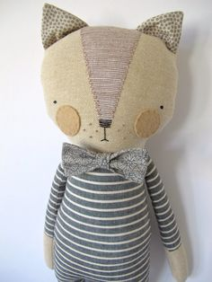 muñeca del muchacho gato lovie gatito luckyjuju por luckyjuju