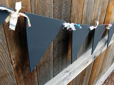 Bunting - Flag - Banner- Chalkboard - Decoration - birthday wedding party photo prop - 15 flags